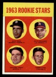 1963 Topps #169   -  Gaylord Perry / Tommie Sisk / Dick Egan / Julio Navarro Rookie Stars Front Thumbnail