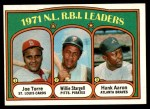 1972 Topps #87   -  Hank Aaron / Willie Stargell / Joe Torre NL RBI Leaders   Front Thumbnail