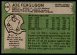1978 Topps #339  Joe Ferguson  Back Thumbnail