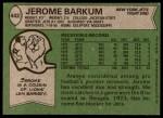 1978 Topps #442  Jerome Barkum  Back Thumbnail