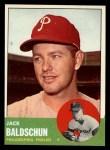 1963 Topps #341 *DOT* Jack Baldschun  Front Thumbnail