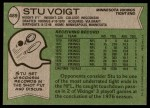 1978 Topps #489  Stu Voigt  Back Thumbnail