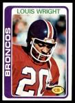 1978 Topps #420  Louis Wright  Front Thumbnail