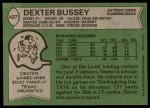 1978 Topps #427  Dexter Bussey  Back Thumbnail