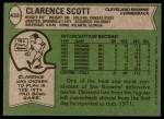 1978 Topps #433  Clarence Scott  Back Thumbnail