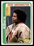 1978 Topps #403  Gene Washington  Front Thumbnail