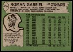 1978 Topps #409  Roman Gabriel  Back Thumbnail