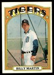 1972 Topps #33  Billy Martin  Front Thumbnail