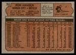 1972 Topps #763  Ron Hansen  Back Thumbnail