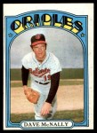 1972 Topps #490  Dave McNally  Front Thumbnail