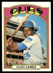 1972 Topps #117 YLW Cleo James  Front Thumbnail