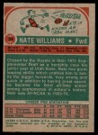 1973 Topps #54  Nate Williams  Back Thumbnail