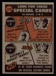 1972 Topps #310   -  Roberto Clemente In Action Back Thumbnail