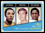 1972 Topps #176   -  Nate Archibald / Jerry West / Lenny Wilkens  NBA Assist Leaders Front Thumbnail