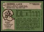 1978 Topps #418  Derrel Luce  Back Thumbnail