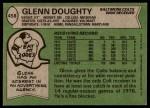 1978 Topps #458  Glenn Doughty  Back Thumbnail