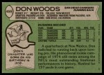 1978 Topps #459  Don Woods  Back Thumbnail