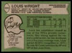 1978 Topps #420  Louis Wright  Back Thumbnail