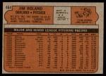 1972 Topps #464  Jim Roland  Back Thumbnail