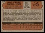 1972 Topps #658  Steve Dunning  Back Thumbnail