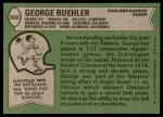 1978 Topps #392  George Buehler  Back Thumbnail