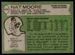 1978 Topps #440  Nat Moore  Back Thumbnail