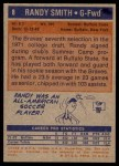 1972 Topps #8  Randy Smith   Back Thumbnail