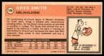 1970 Topps #166  Greg Smith   Back Thumbnail
