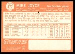 1964 Topps #477  Mike Joyce  Back Thumbnail