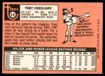 1969 Topps #330  Tony Conigliaro  Back Thumbnail