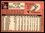 1969 Topps #155  Pete Ward  Back Thumbnail