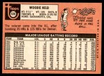 1969 Topps #636  Woodie Held  Back Thumbnail