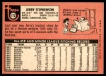 1969 Topps #172  Jerry Stephenson  Back Thumbnail