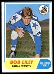 1968 Topps #181  Bob Lilly  Front Thumbnail