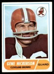 1968 Topps #76  Gene Hickerson  Front Thumbnail