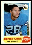 1968 Topps #57  Henry Carr  Front Thumbnail