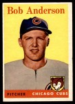 1958 Topps #209  Bob Anderson  Front Thumbnail