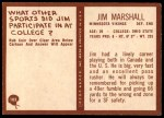 1967 Philadelphia #103  Jim Marshall  Back Thumbnail