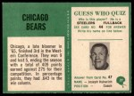1966 Philadelphia #27   Bears Team Back Thumbnail