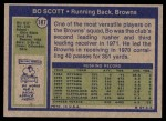 1972 Topps #187  Bo Scott  Back Thumbnail