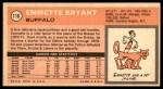 1970 Topps #116  Emmette Bryant   Back Thumbnail