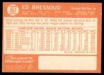 1964 Topps #352  Eddie Bressoud  Back Thumbnail