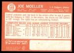 1964 Topps #549  Joe Moeller  Back Thumbnail
