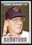 1967 Topps #255  Frank Howard  Front Thumbnail