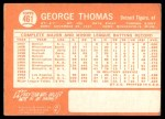 1964 Topps #461  George Thomas  Back Thumbnail