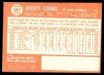 1964 Topps #497  Jeoff Long  Back Thumbnail