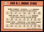 1969 Topps #641   -  Bobby Darwin / Tommy Dean / John Miller NL Rookies Back Thumbnail