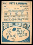 1968 Topps #143  Pete Lammons  Back Thumbnail