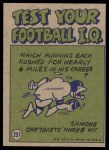 1972 Topps #251   -  Johnny Unitas Pro Action Back Thumbnail