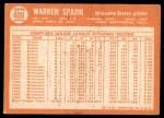 1964 Topps #400  Warren Spahn  Back Thumbnail